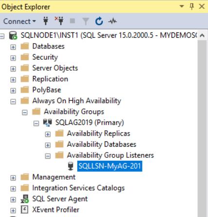 在Windows Server 2016和SQL Server Always On可用性组上安装SQL Server 201950
