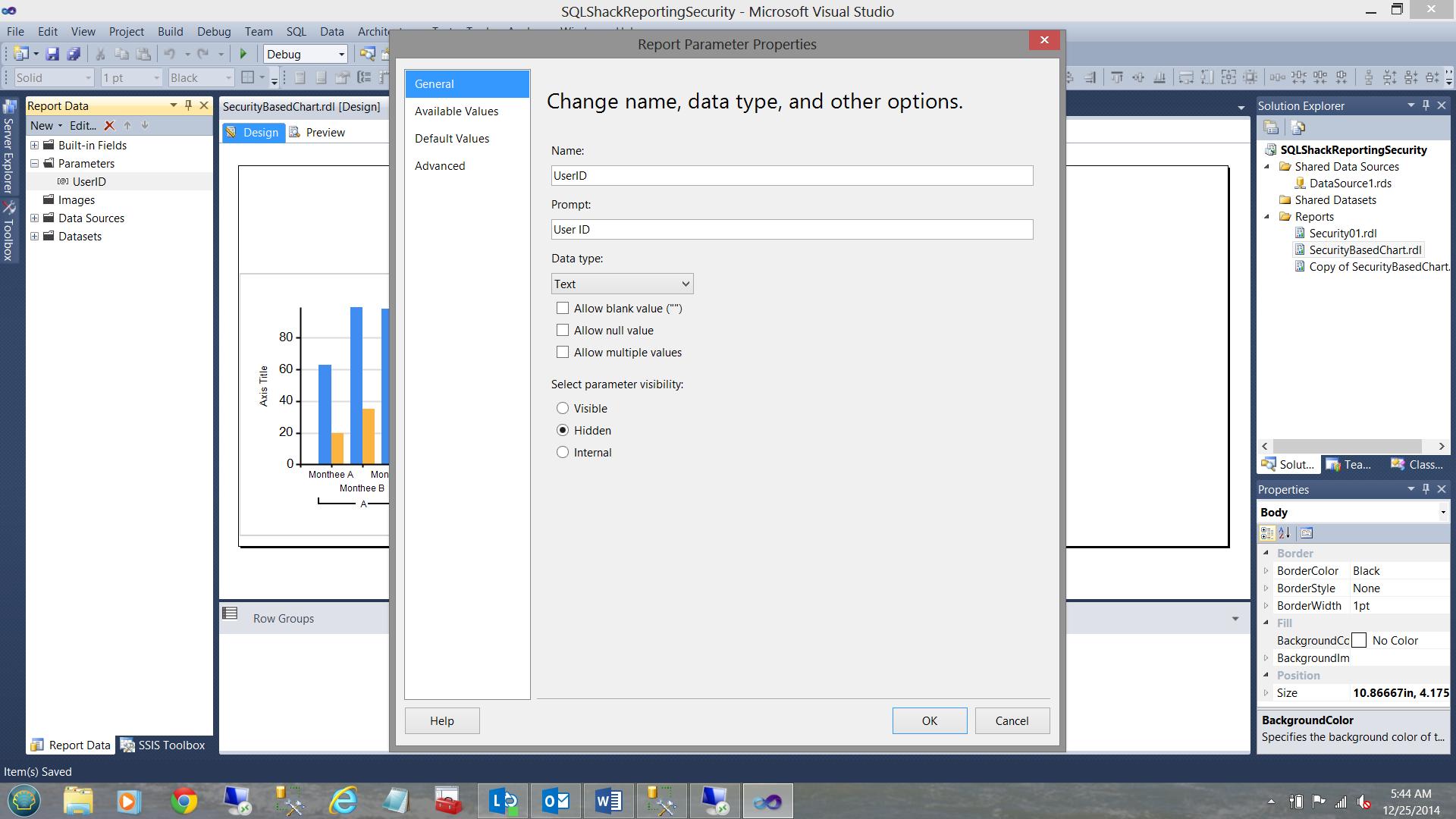 SQL Server安全机制–如何控制用户能够在报告中查看哪些数据27