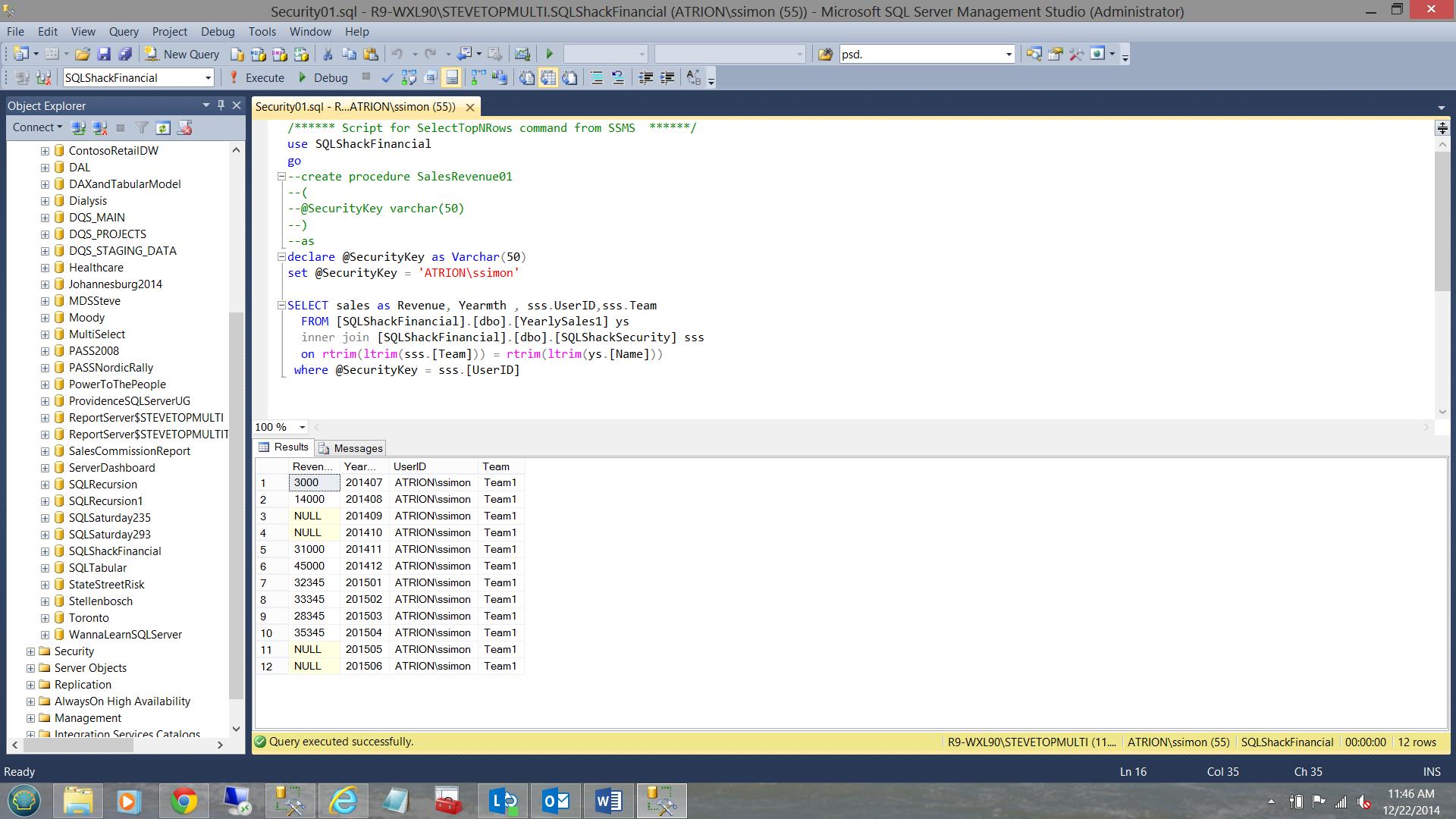 SQL Server安全机制–如何控制用户能够在报告中查看哪些数据5