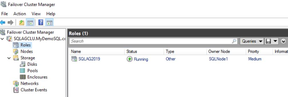 在Windows Server 2016和SQL Server Always On可用性组上安装SQL Server 201944