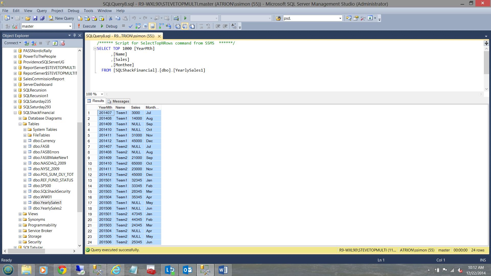 SQL Server安全机制–如何控制用户能够在报告中查看哪些数据1