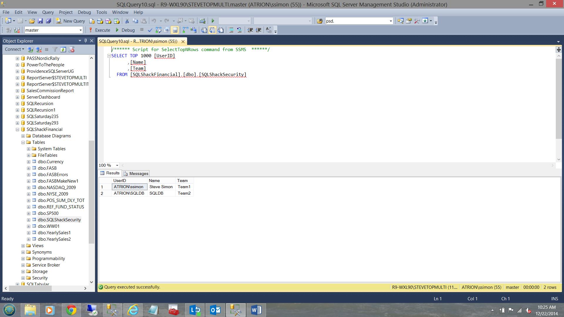 SQL Server安全机制–如何控制用户能够在报告中查看哪些数据3