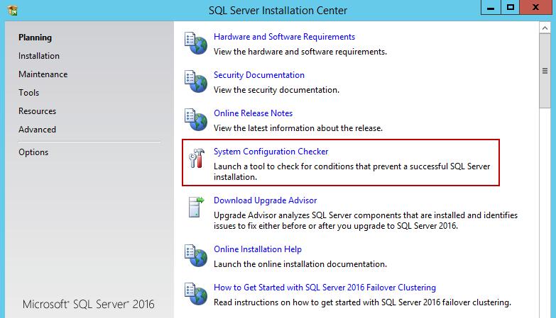 安装SQL Server 20162