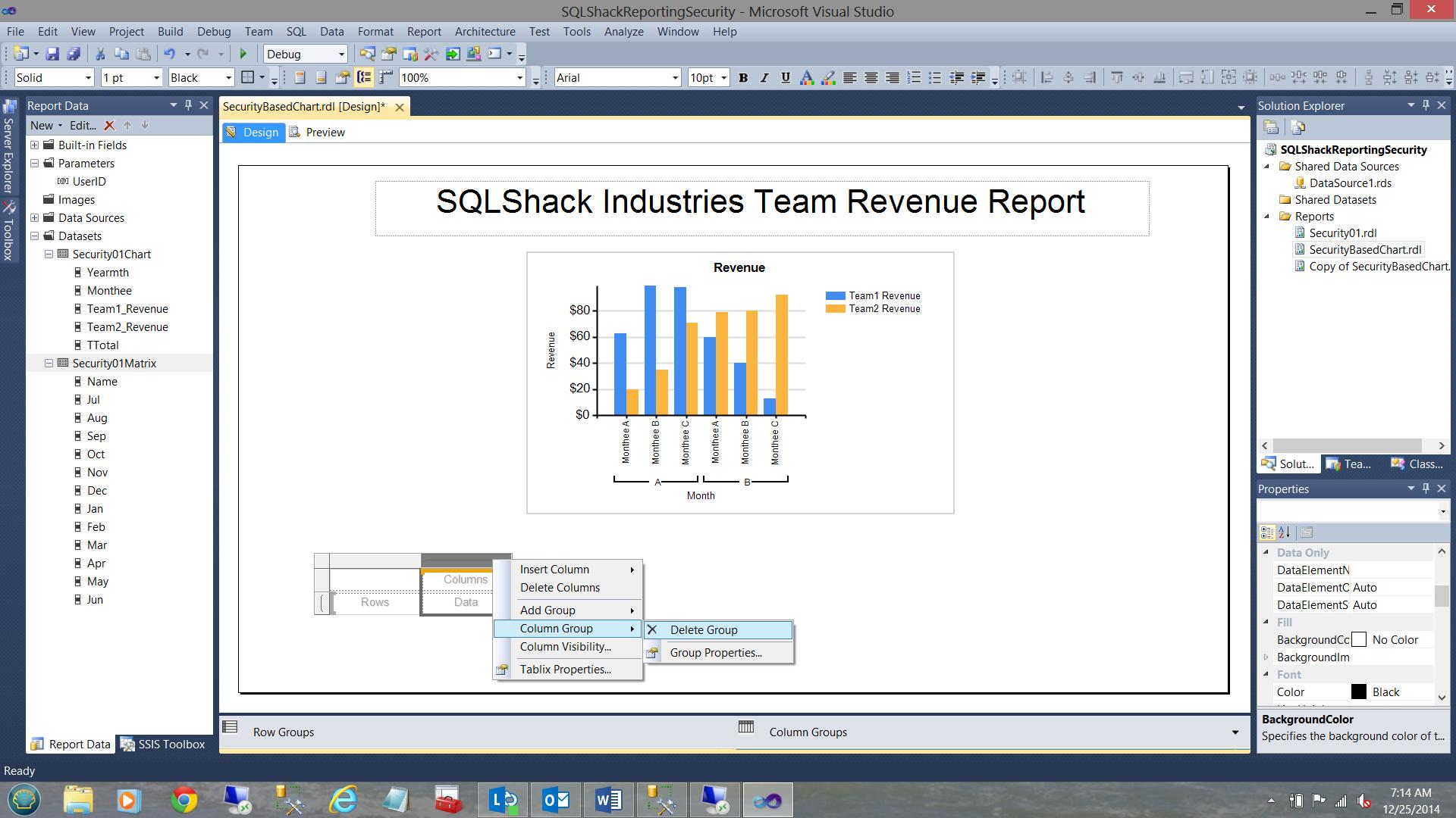SQL Server安全机制–如何控制用户能够在报告中查看哪些数据37
