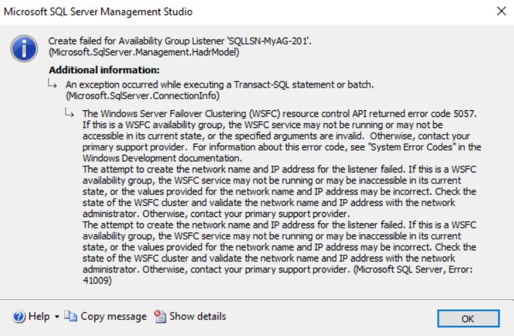 在Windows Server 2016和SQL Server Always On可用性组上安装SQL Server 201945