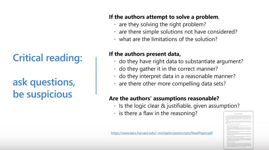 沈向洋、华刚:读科研论文的三个层次、四个阶段与十个问题7