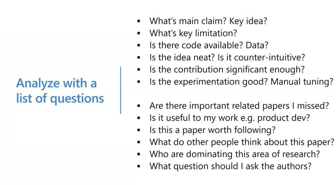 沈向洋、华刚:读科研论文的三个层次、四个阶段与十个问题10