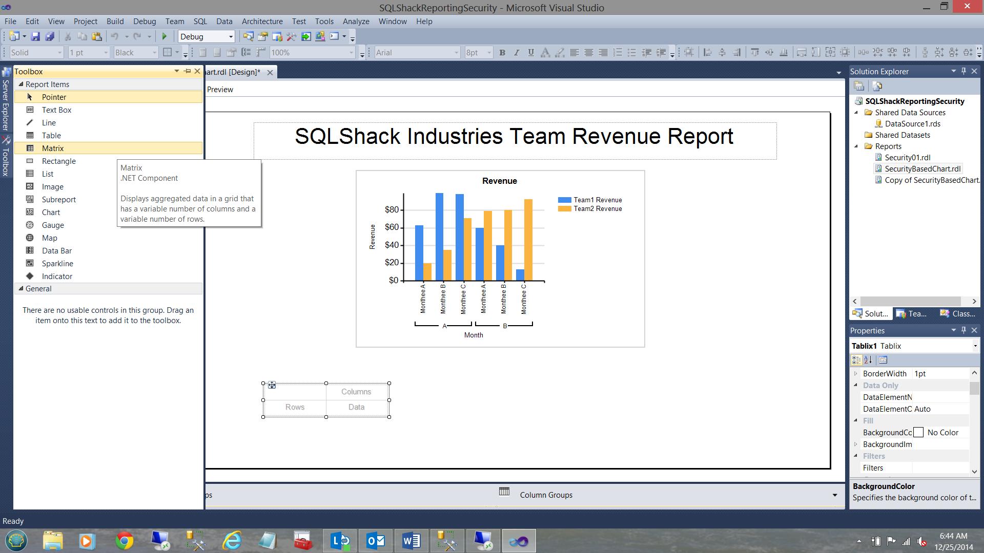 SQL Server安全机制–如何控制用户能够在报告中查看哪些数据35