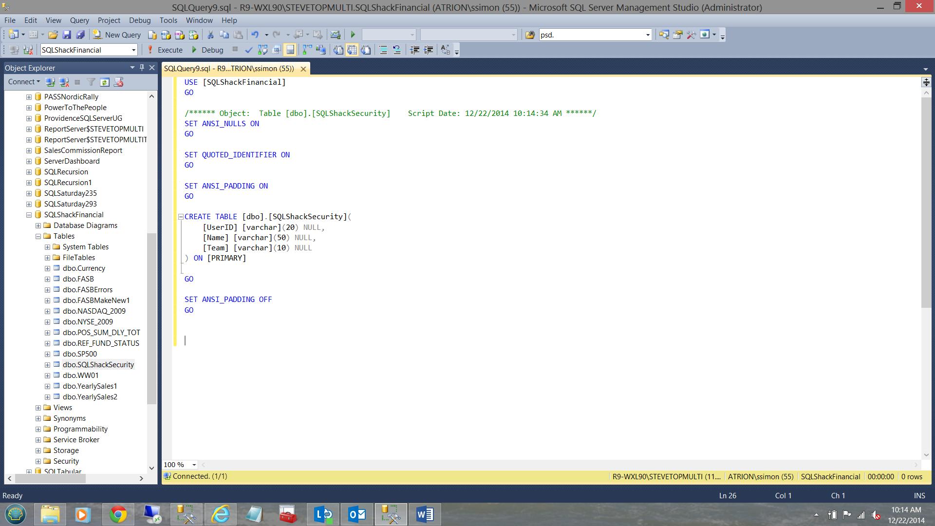 SQL Server安全机制–如何控制用户能够在报告中查看哪些数据2