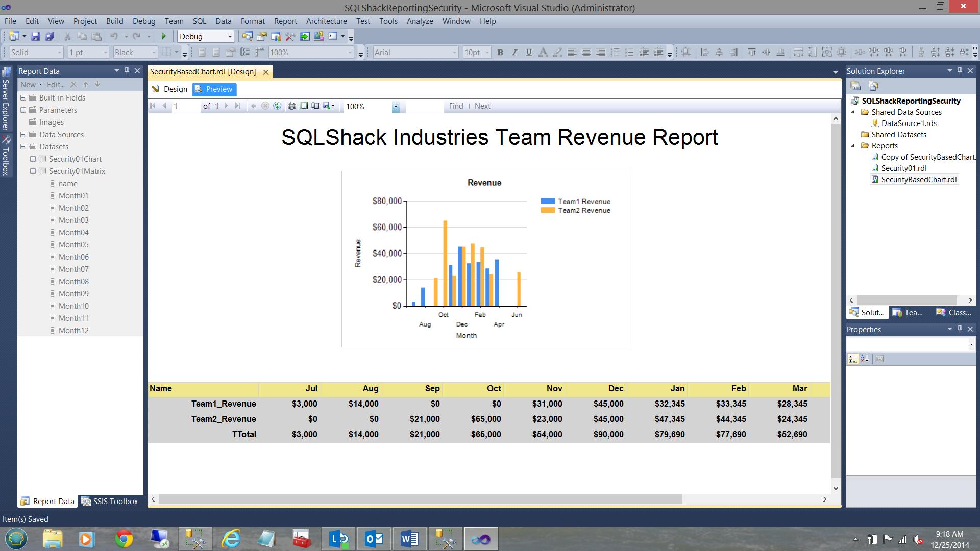 SQL Server安全机制–如何控制用户能够在报告中查看哪些数据41