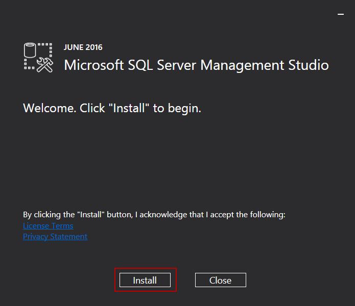 安装SQL Server 201616
