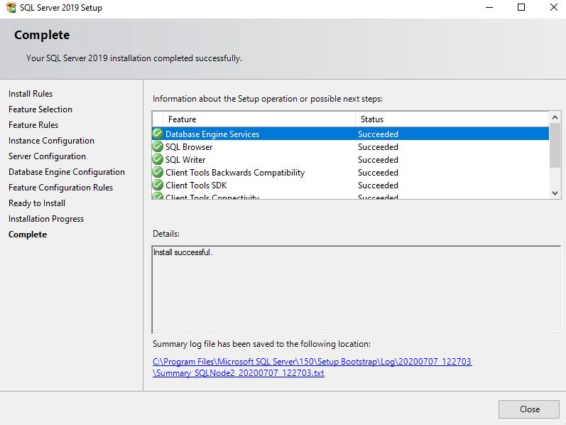 在Windows Server 2016和SQL Server Always On可用性组上安装SQL Server 201924
