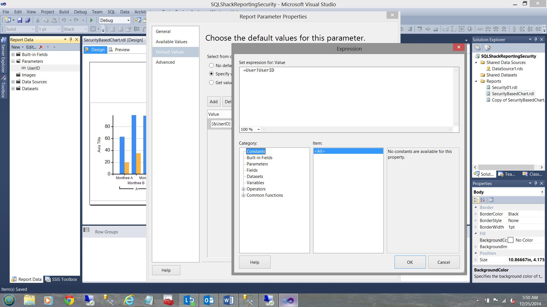 SQL Server安全机制–如何控制用户能够在报告中查看哪些数据30