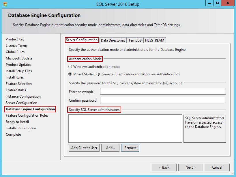 安装SQL Server 201615