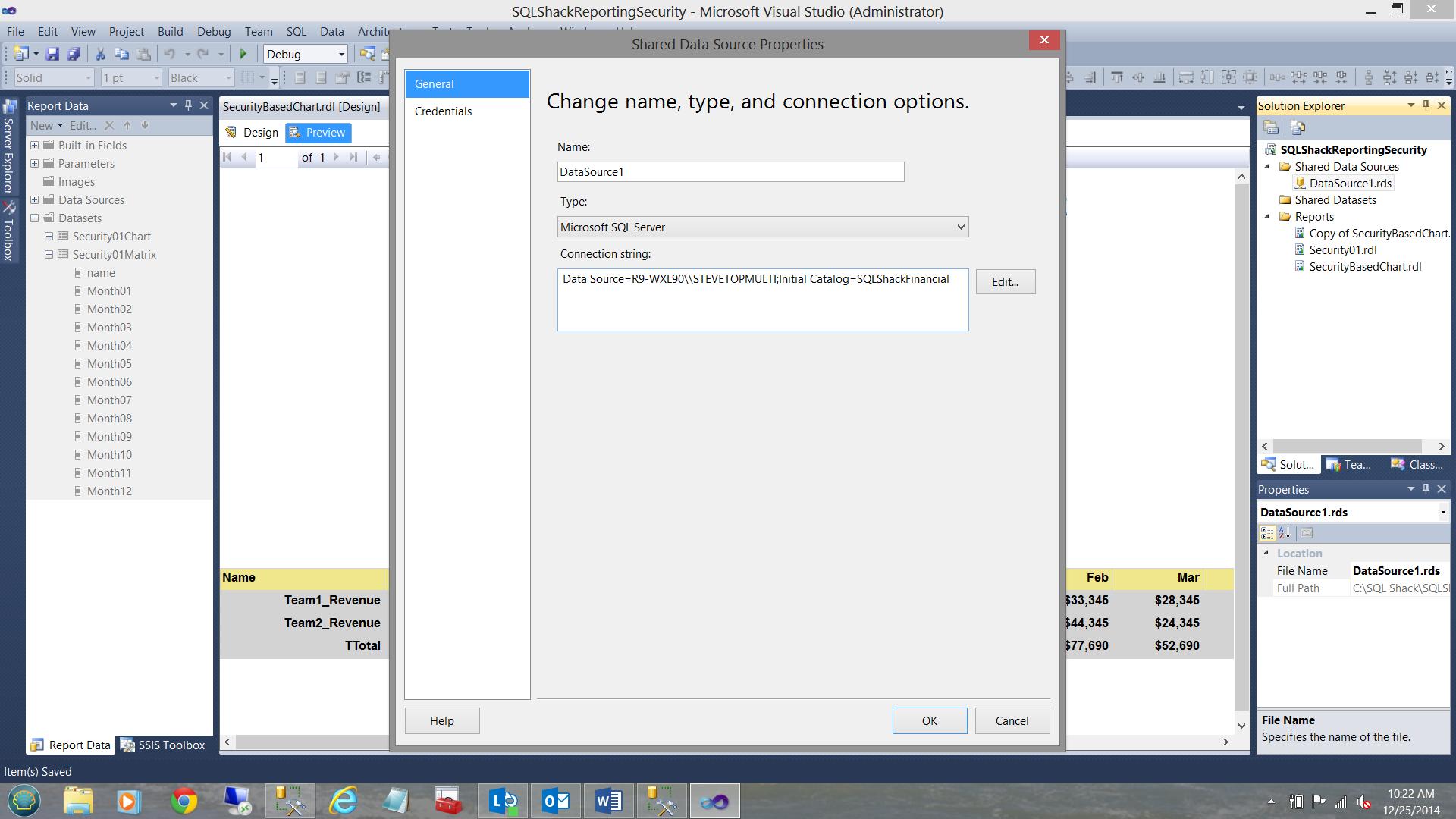 SQL Server安全机制–如何控制用户能够在报告中查看哪些数据13