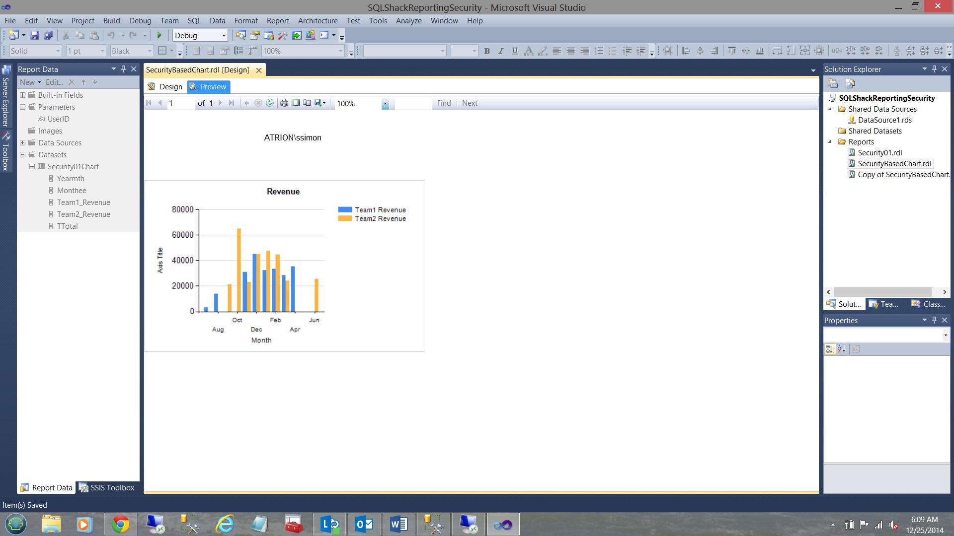 SQL Server安全机制–如何控制用户能够在报告中查看哪些数据33
