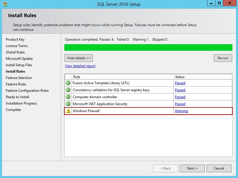 安装SQL Server 201613