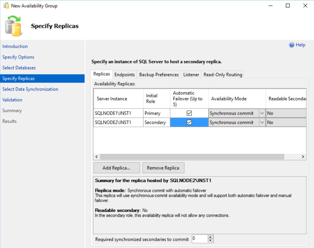 在Windows Server 2016和SQL Server Always On可用性组上安装SQL Server 201936