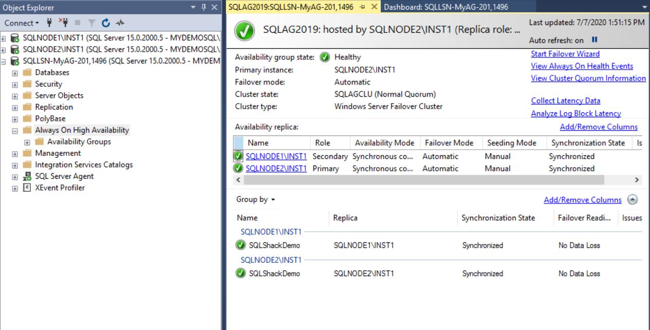 在Windows Server 2016和SQL Server Always On可用性组上安装SQL Server 201956