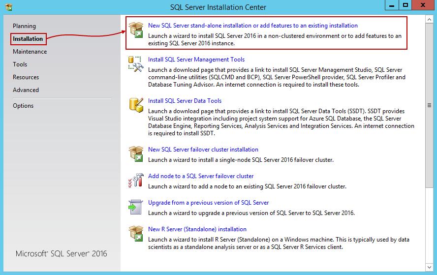 安装SQL Server 201612